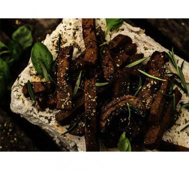 L'Herbivore Seitan-Lupinen-Bratstreifen Mediterrane Kräuter, BIO, 180g