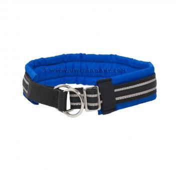 Soft Halsband Zugstop blau