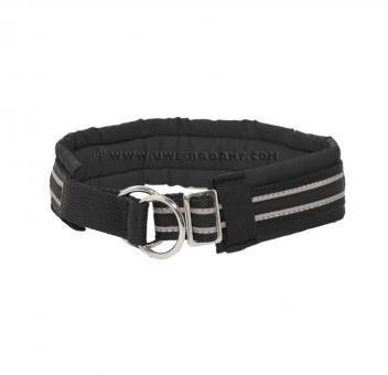 Soft Halsband Zugstop schwarz