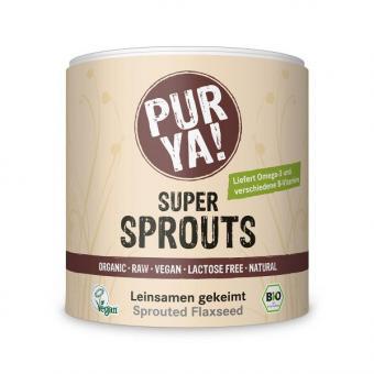 Bio Super Sprouts Leinsamen gekeimt