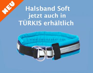 Soft Halsband Zugstop türkis