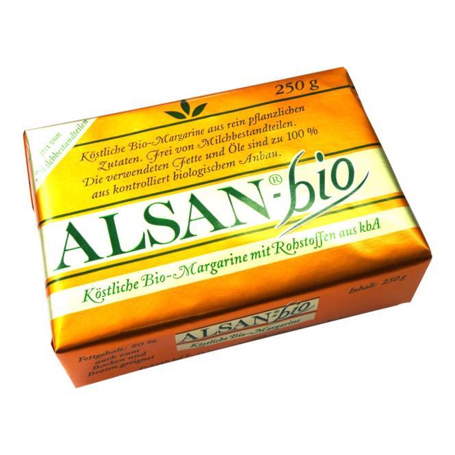 AlSAN Pflanzen-Margarine 250 Gramm BIO
