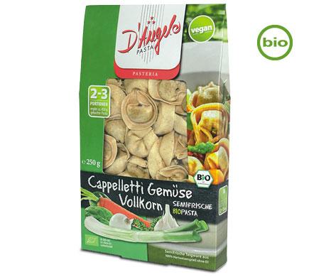D'Angelo Bio VOLLKORN CAPELLETI mit Gemüse, 250g