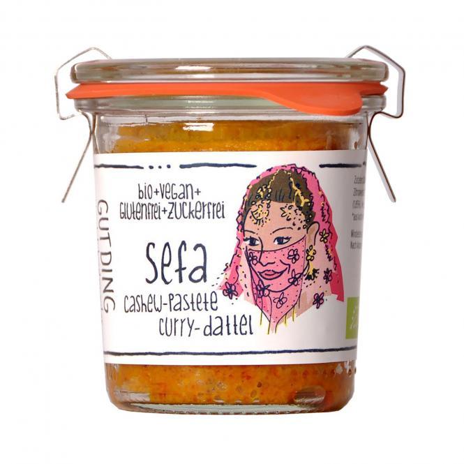GUTDING SEFA Cashew-Pastete Curry-Dattel, BIO, 100g