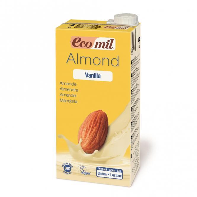 Bio Mandeldrink Vanilla mit Agave gesüßt 1L