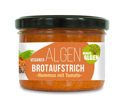 Maris Algen ALGEN BROTAUFSTRICH Hummus mit Tomate, 180g