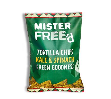 "Mister Free'd TORTILLA CHIPS ""El Verde"" mit Kohl und Spinat, 135g"