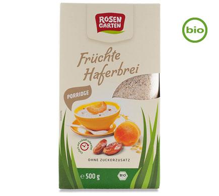 Rosengarten Bio PORRIDGE FRÜCHTE Haferbrei, 500g