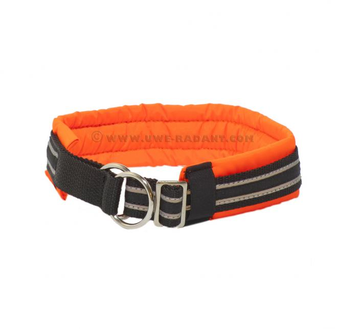 Soft Halsband Zugstop orange