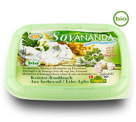 Soyana Bio SOYANANDA Frischer Aufstrich Kräuter-Knoblauch, 140g
