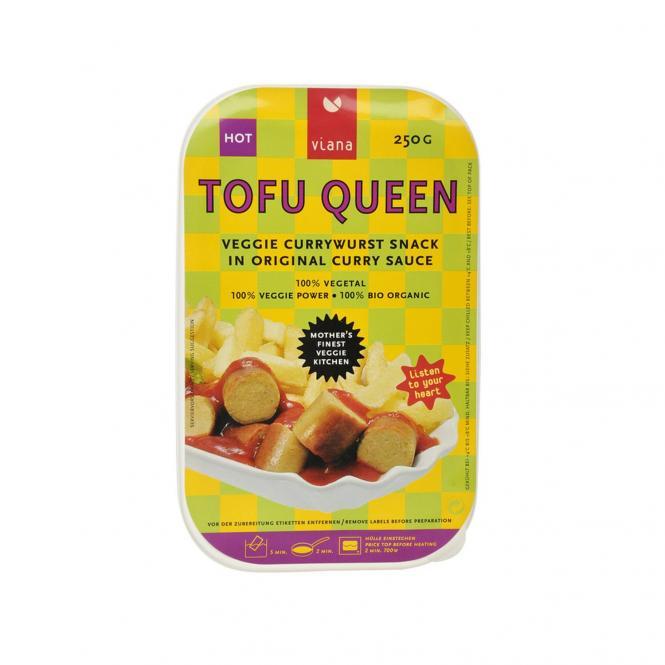 Viana TOFU QUEEN CURRYWURST Snack, BIO, 250g