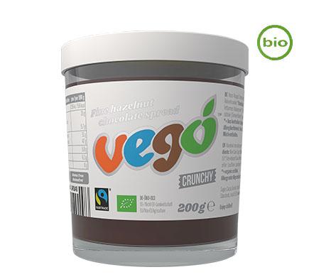 VEGO FINE-HAZELNUT Schokoaufstrich Crunchy, BIO, 200g