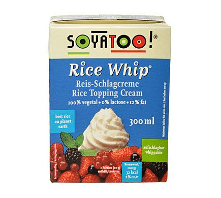 SOYATOO RICE WHIP Reis-Schlagcreme